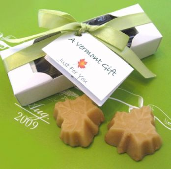 2 Pc Maple Leafs Wedding Favor Boxed Pieces Of Vermont Pure Maple Candy Gifts Bulk