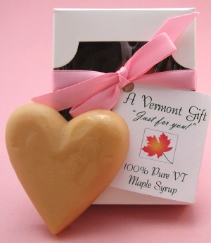 Heart Shaped Vermont Maple Sugar Candy Wedding Favor