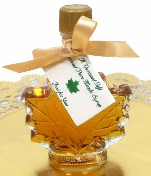 Vermont Maple Syrup Leaf Shaped Wedding Favor