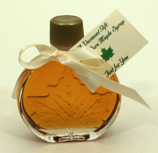 vermont maple syrup medallion shaped wedding favor